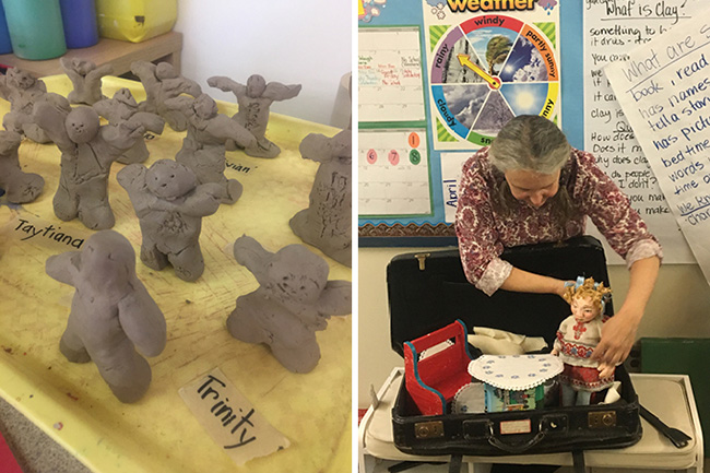 The Power of Story: Fabric, Puppets and Clay