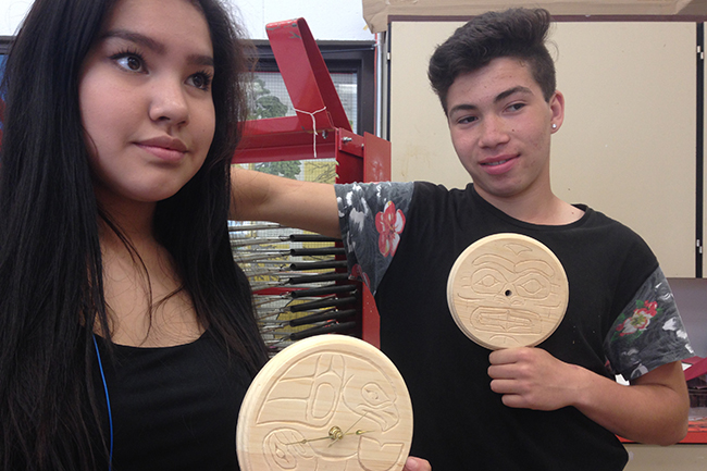 Lytton Local Carving and Salish Design