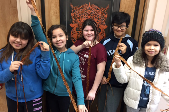 Cedar Weaving with Nagala: Artists in the Classroom