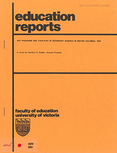 Art Programs and Facilities in Secondary Schools in British Columbia, 1972