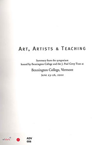 Art, Artists and Teaching