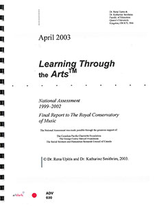 Learning Through the Arts: National Assessment 1999-2002