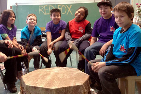 Red Fox Drum Group Workshop with Red Fox Healthy Living