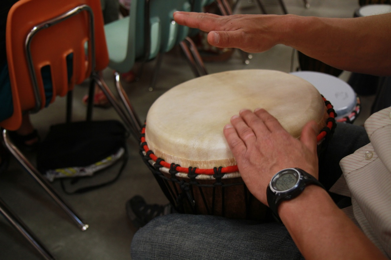 ArtStarts on Saturdays May2012 Drumming with Milton Randall