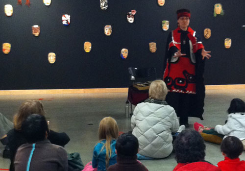 Roberta Kennedy sharing Haida stories